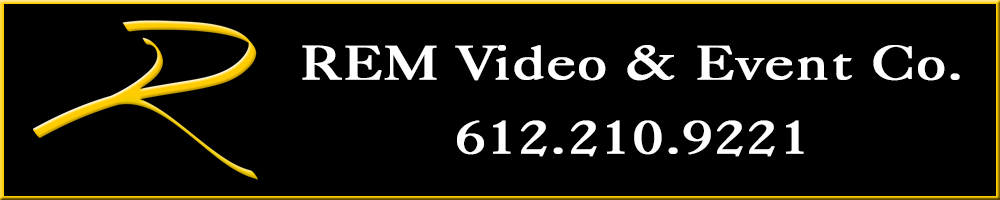REM Video & Event Horizontal Logo